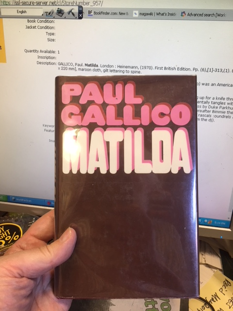 Image for Matilda. First British Edition in dustjacket