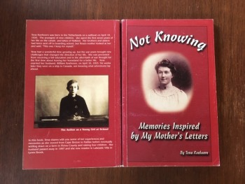Image for Not Knowing: Memories Inspired by My Mother's Letters.  First Edition, Signed.