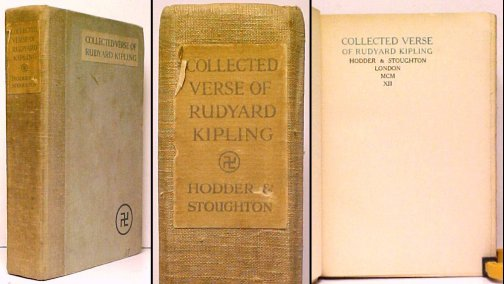 Image for Collected Verse of Rudyard Kipling.  4th ed