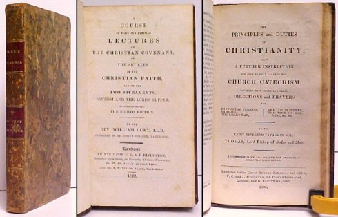 Image for Course of Plain and Familiar Lectures on The Christian Covenant, on The Articles of the Christian Faith, and on the Two Sacraments, Baptism and The Lord's Supper.  8th ed