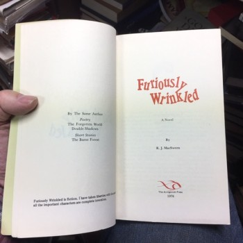 Image for Furiously Wrinkled. : A Novel.  First Edition, Signed