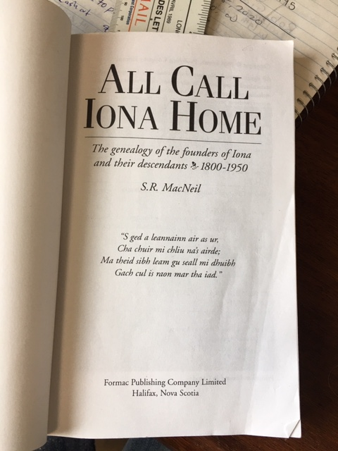 Image for All Call Iona Home : The Genealogy of the Founders of Iona and Their Descendants 1800-1950. Revised Edition