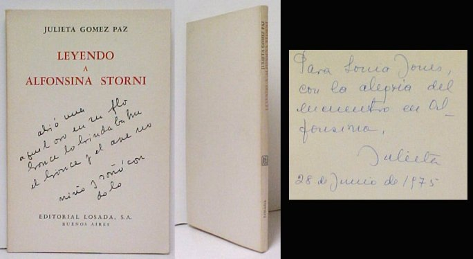 Image for Leyendo a Alfonsina Storni.  signed by Paz.