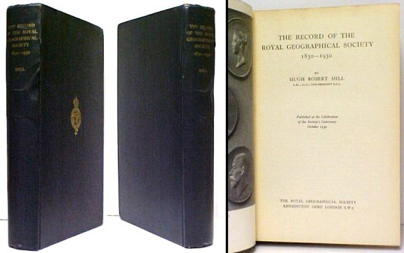 Image for Record of the Royal Geographical Society, 1830-1930