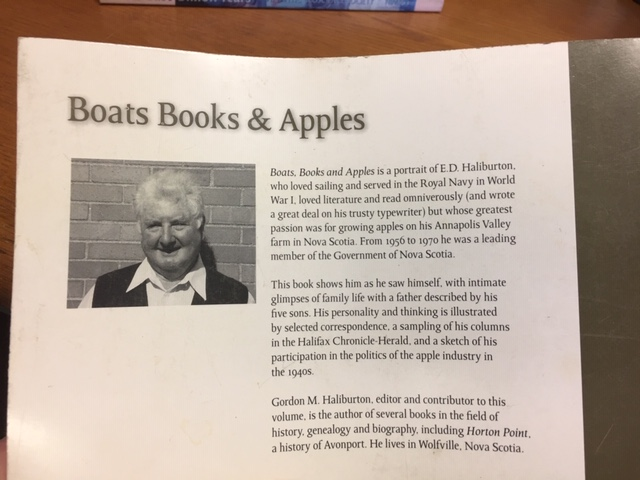 Image for Boats, Books, and Apples : A Portrait of E. D. Haliburton,  a Rugged Individualist, by Himself and Others. First Edition