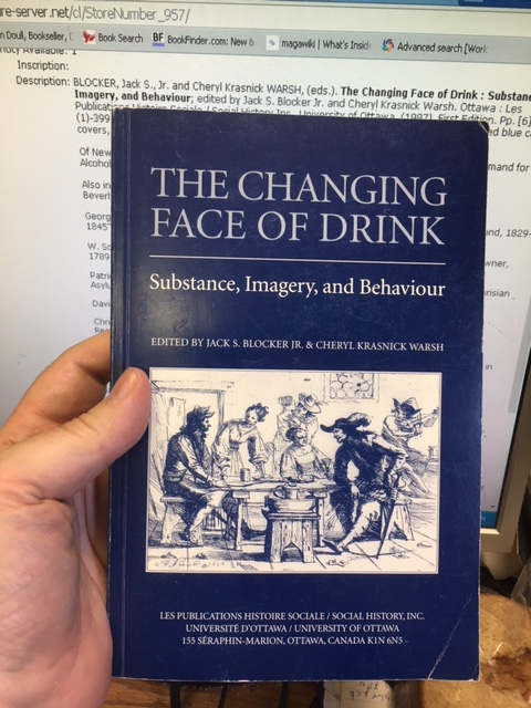 Image for Changing Face of Drink : Substance, Imagery, and Behaviour. First Edition