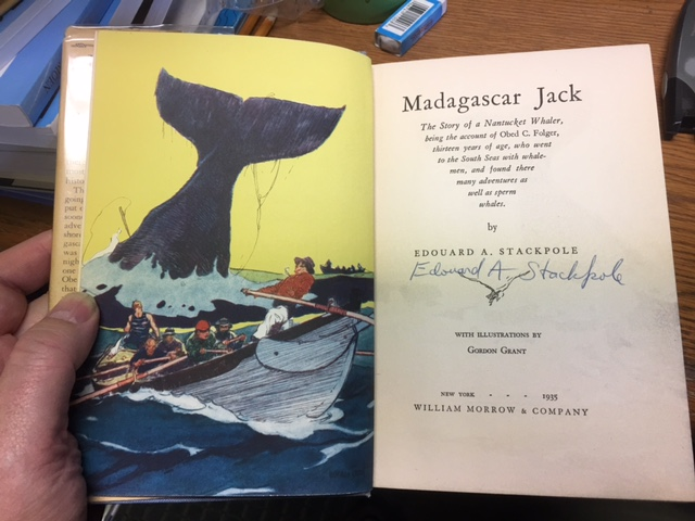 Image for Madagascar Jack : The Story of a Nantucket Whaler.  First Edition in dustjacket, Signed.