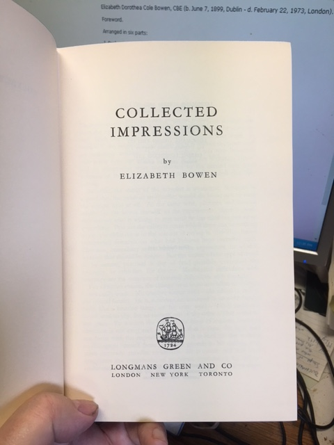 Image for Collected Impressions.  First Edition