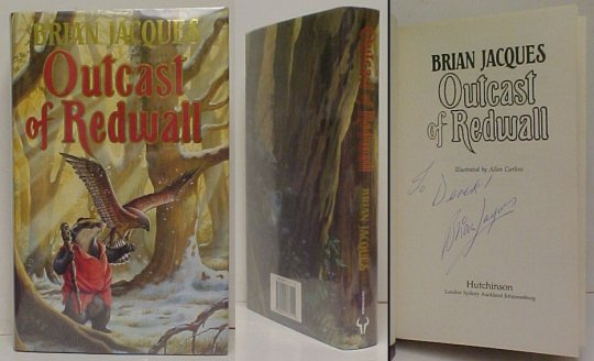 Image for Outcast of Redwall.  First Edition in dustjacket, signed.