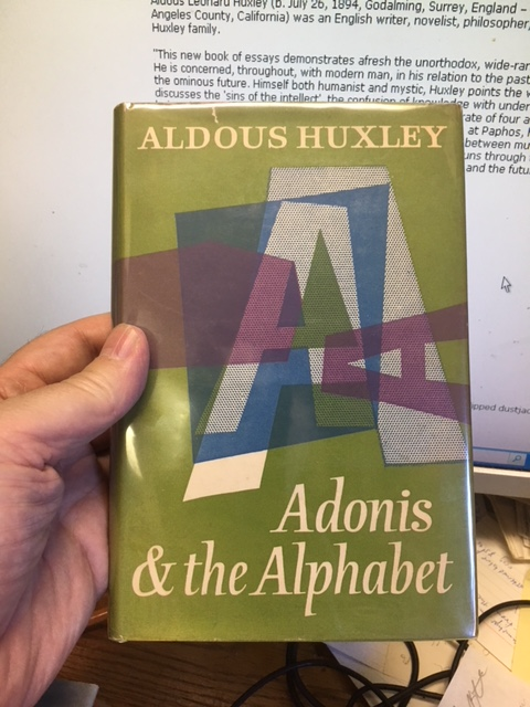 Image for Adonis and the Alphabet and Other Essays.  First Edition in dustjacket