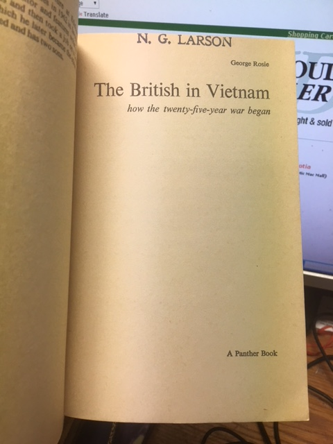 Image for The British in Vietnam : How the Twenty-five Year War Began.  First Edition