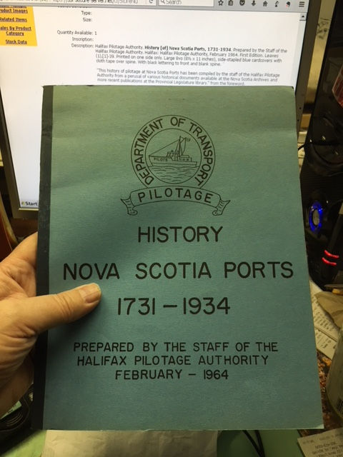 Image for History of Nova Scotia Ports, 1731-1934.  First Edition