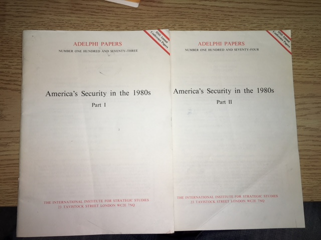 Image for America's Security in the 1980s. [In Two Parts].  Adelphi Papers No. 173 and 174