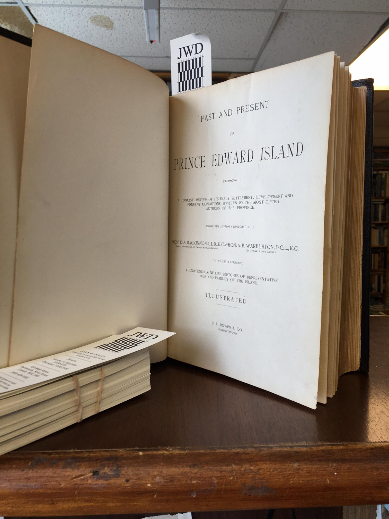 Image for Past and Present of Prince Edward Island. First Edition.
