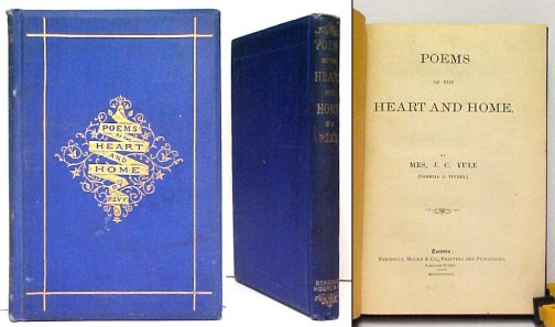 Image for Poems of the Heart and Home.  First Edition