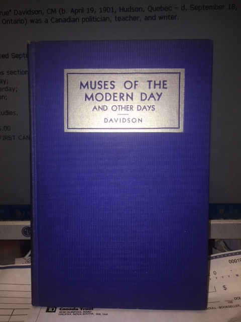 Image for Muses of the Modern Day and Other Days. First Edition