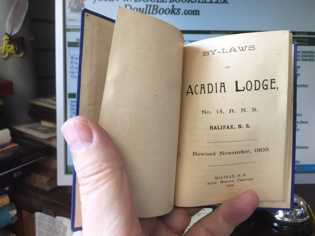 Image for By-Laws of Acadia Lodge, No. 14, R.N.S., Halifax, N.S. Revised, November, 1903.