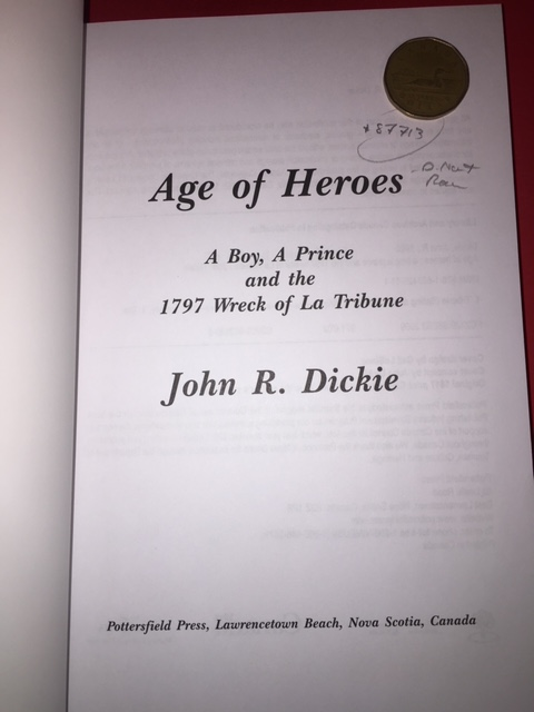Image for Age of Heroes : A Boy, a Prince and the 1797 Wreck of La Tribune. First Edition