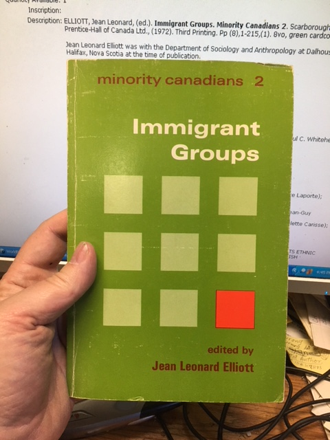 Image for Immigrant Groups. Minority Canadians 2. Third Printing