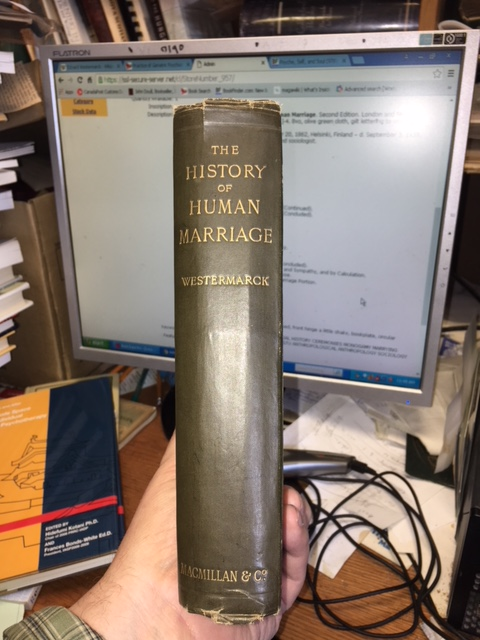 Image for The History of Human Marriage. Second Edition