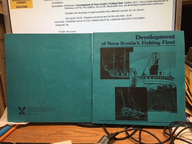Image for Development of Nova Scotia's Fishing Fleet.  First Edition.