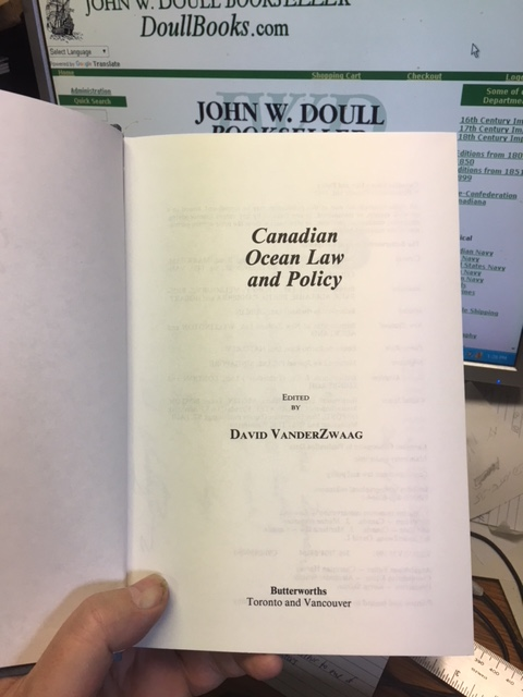 Image for Canadian Ocean Law and Policy.  First Edition