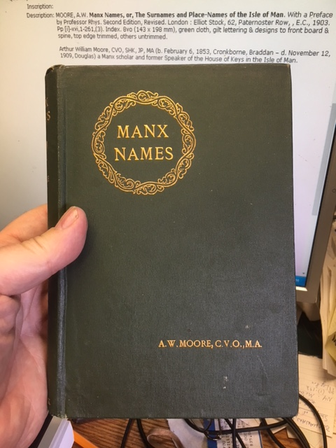 Image for Manx Names or the Surnames and Place-Names of the Isle of Man. With a Preface by Professor Rhys. Second Edition, Revised.