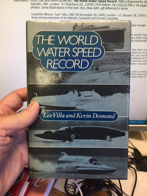 Image for The World Water Speed Record. First Edition in dustjacket