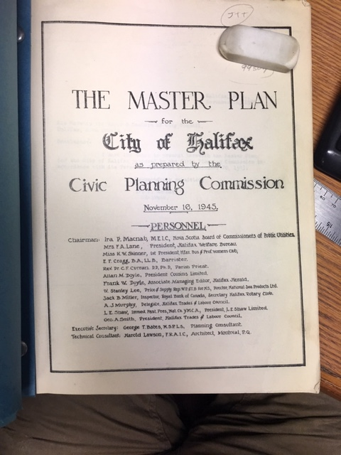 Image for The Master Plan for the City of Halifax as prepared by the City Planning Commission, November 16, 1945